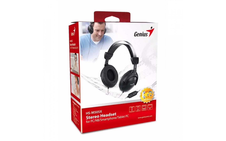 Audífono Genius Tipo Diadema Con Micrófono Hs-M505X