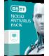 ESET NOD32 ANTIVIRUS HOME  V.13 2020 1AÑO PACK 3PCS